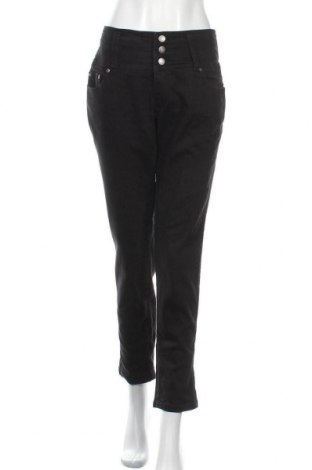 Дамски дънки John Baner, Размер XL, Цвят Черен, 98% памук, 2% еластан, Цена 26,25лв.