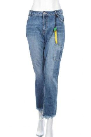 Дамски дънки Lindex, Размер XXL, Цвят Син, 99% памук, 1% еластан, Цена 43,47лв.