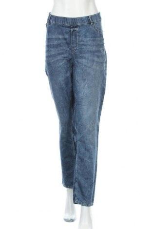 Дамски дънки Lindex, Размер XXL, Цвят Син, 90% памук, 9% полиестер, 1% еластан, Цена 29,40лв.