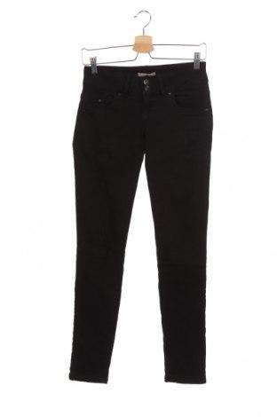 Дамски дънки Ltb, Размер XS, Цвят Черен, 98% памук, 2% еластан, Цена 46,20лв.