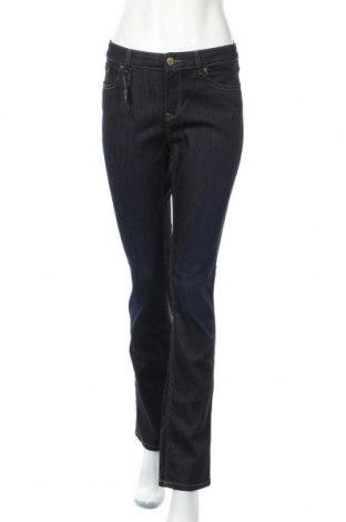 Дамски дънки Massimo Dutti, Размер L, Цвят Син, 86% памук, 12% полиестер, 2% еластан, Цена 42,84лв.