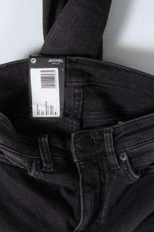 Дамски дънки Monki, Размер XS, Цвят Сив, 86% памук, 12% полиестер, 2% еластан, Цена 22,91лв.