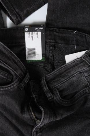 Дамски дънки Monki, Размер XXS, Цвят Сив, 86% памук, 12% полиестер, 2% еластан, Цена 22,91лв.