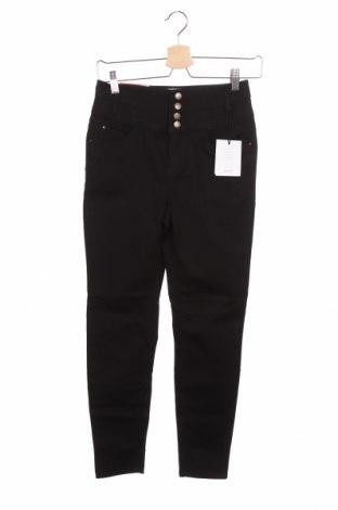 Дамски дънки New Look, Размер XS, Цвят Черен, 71% памук, 25% полиестер, 4% еластан, Цена 20,06лв.
