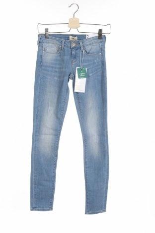 Дамски дънки ONLY, Размер XS, Цвят Син, 84% памук, 14% полиестер, 2% еластан, Цена 44,25лв.