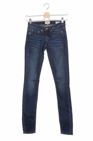 Дамски дънки ONLY, Размер XS, Цвят Син, 98% памук, 2% еластан, Цена 18,34лв.