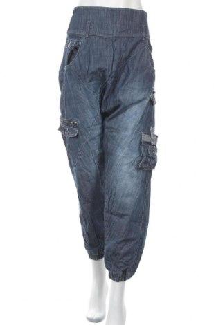 Дамски дънки ONLY, Размер XL, Цвят Син, Памук, Цена 25,94лв.