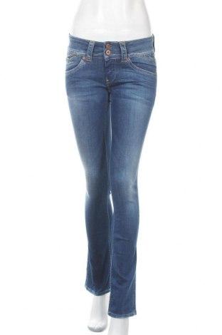 Дамски дънки Pepe Jeans, Размер S, Цвят Син, 83% памук, 15% полиестер, 2% еластан, Цена 138,65лв.