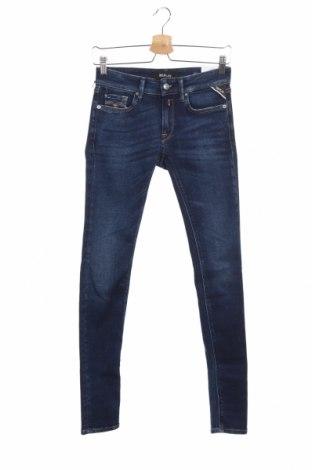 Дамски дънки Replay, Размер XS, Цвят Син, 78% памук, 18% модал, 4% еластан, Цена 132,30лв.