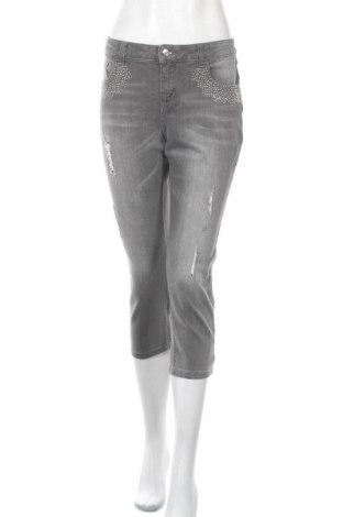 Дамски дънки Rick Cardona, Размер L, Цвят Сив, 98% памук, 2% еластан, Цена 27,30лв.
