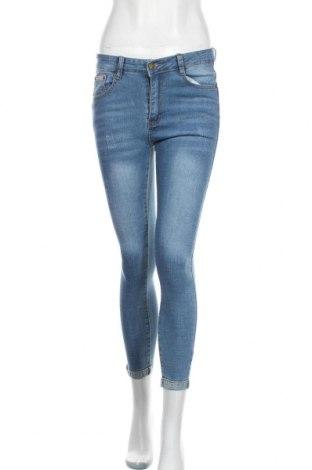 Дамски дънки SHEIN, Размер S, Цвят Син, 85% памук, 13% полиестер, 2% еластан, Цена 28,35лв.