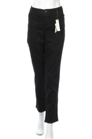 Дамски дънки Simply Vera Vera Wang, Размер XXL, Цвят Черен, 55% памук, 26% вискоза, 17% полиестер, 2% еластан, Цена 35,70лв.