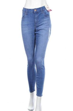 Дамски дънки So, Размер XL, Цвят Син, 56% памук, 22% вискоза, 21% полиестер, 1% еластан, Цена 40,95лв.