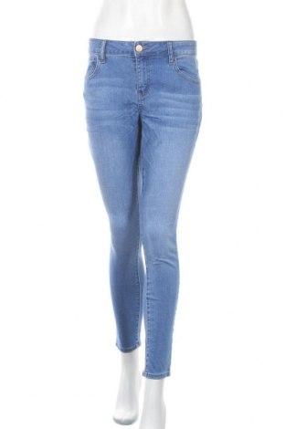 Дамски дънки So, Размер XL, Цвят Син, 56% памук, 22% вискоза, 21% полиестер, 1% еластан, Цена 27,30лв.