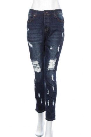 Дамски дънки Vip, Размер XL, Цвят Син, 98% памук, 2% еластан, Цена 29,40лв.