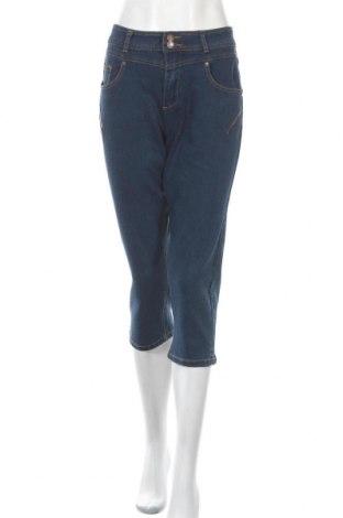 Дамски дънки Vrs Woman, Размер L, Цвят Син, 61% памук, 34% полиестер, 3% вискоза, 2% еластан, Цена 25,94лв.