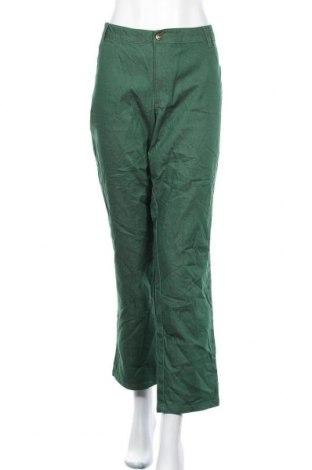 Дамски дънки Woman Within, Размер XXL, Цвят Зелен, 76% памук, 23% полиестер, 1% еластан, Цена 12,29лв.