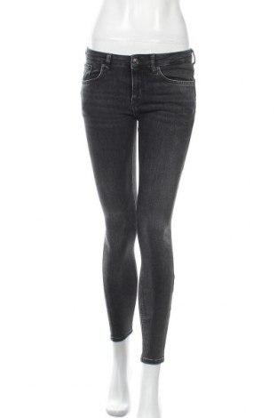 Дамски дънки Zara, Размер M, Цвят Сив, 77% памук, 14% модал, 6% полиестер, 3% еластан, Цена 30,45лв.