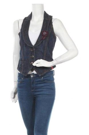 Dámská vesta  Edc By Esprit, Velikost M, Barva Modrá, 99% bavlna, 1% elastan, Cena  288,00Kč