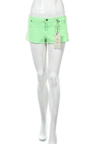 Дамски къс панталон Brave Soul, Размер L, Цвят Зелен, 97% памук, 3% еластан, Цена 17,90лв.
