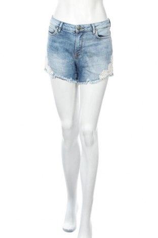 Γυναικείο κοντό παντελόνι Charles Vogele, Μέγεθος M, Χρώμα Μπλέ, 99% βαμβάκι, 1% ελαστάνη, Τιμή 12,96€