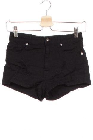 Γυναικείο κοντό παντελόνι H&M Divided, Μέγεθος XS, Χρώμα Μαύρο, 99% βαμβάκι, 1% ελαστάνη, Τιμή 9,87€