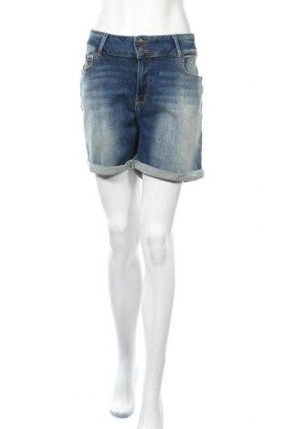 Дамски къс панталон Ltb, Размер XL, Цвят Син, 91% памук, 6% полиестер, 3% еластан, Цена 51,75лв.