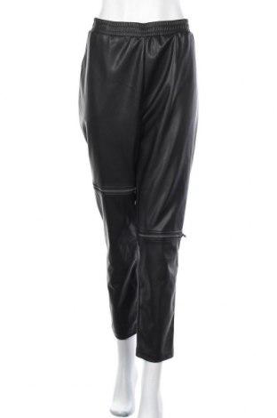 Дамски кожен панталон Noisy May, Размер XL, Цвят Черен, Еко кожа, Цена 31,11лв.
