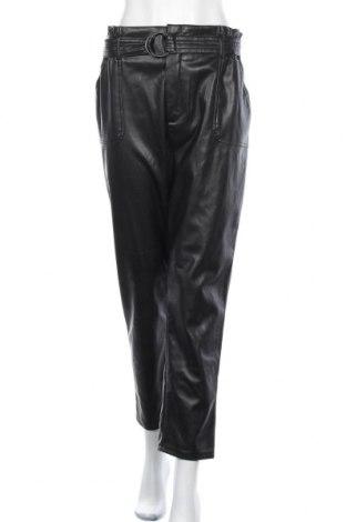 Дамски кожен панталон Vintage, Размер XL, Цвят Черен, Еко кожа, Цена 35,70лв.