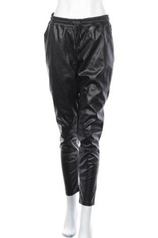 Дамски кожен панталон Vintage, Размер S, Цвят Черен, Еко кожа, Цена 30,45лв.