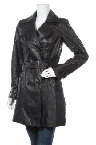 Dámský kožený přechodný kabát  Peppercorn, Velikost S, Barva Černá, Pravá kůže, Cena  893,00Kč