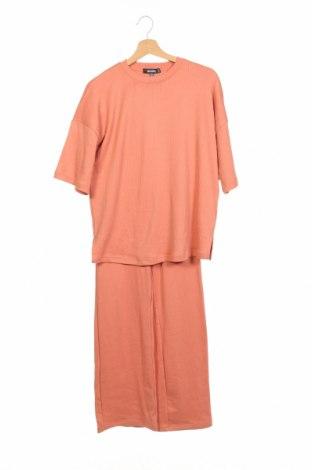 Γυναικείο σετ Missguided, Μέγεθος XS, Χρώμα Πορτοκαλί, 50% πολυεστέρας, 45% βαμβάκι, 5% ελαστάνη, Τιμή 18,76€