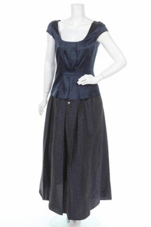 Costum de femei Emporio Armani, Mărime M, Culoare Albastru, 55% acetat, 34% poliester, 11% bumbac, Preț 300,33 Lei