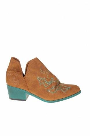 Дамски обувки, Размер 38, Цвят Кафяв, Еко кожа, Цена 18,38лв.