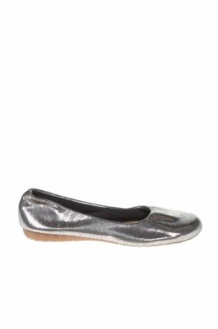 Дамски обувки, Размер 37, Цвят Сребрист, Текстил, Цена 23,21лв.