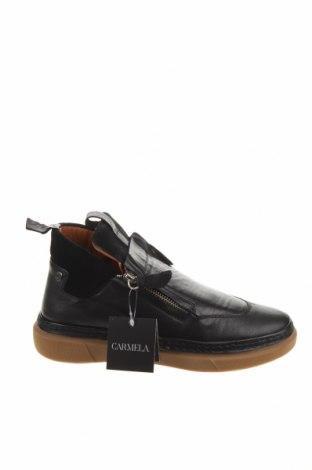 Γυναικεία παπούτσια Carmela, Μέγεθος 39, Χρώμα Μαύρο, Γνήσιο δέρμα, φυσικό σουέτ, Τιμή 35,24€