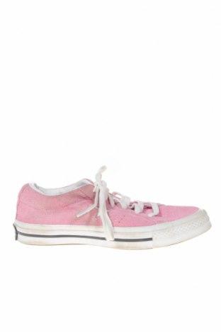 Дамски обувки Converse, Размер 36, Цвят Розов, Естествен велур, Цена 56,70лв.