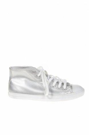 Дамски обувки Converse, Размер 37, Цвят Сив, Еко кожа, Цена 70,09лв.