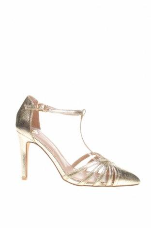 Дамски обувки Dorothy Perkins, Размер 39, Цвят Златист, Еко кожа, Цена 25,60лв.