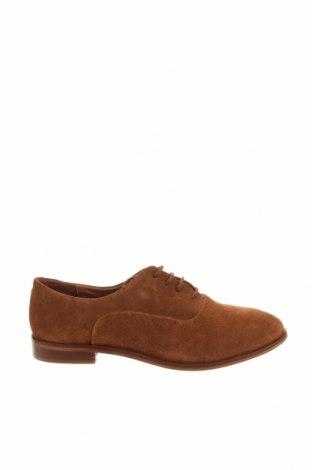 Дамски обувки Kiomi, Размер 42, Цвят Кафяв, Естествен велур, Цена 39,27лв.