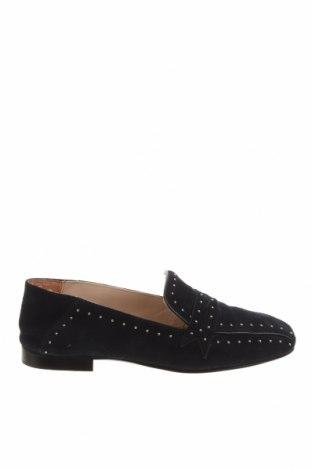 Дамски обувки Massimo Dutti, Размер 35, Цвят Син, Естествен велур, Цена 26,52лв.