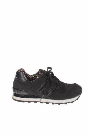 Дамски обувки New Balance, Размер 36, Цвят Черен, Еко кожа, Цена 47,88лв.