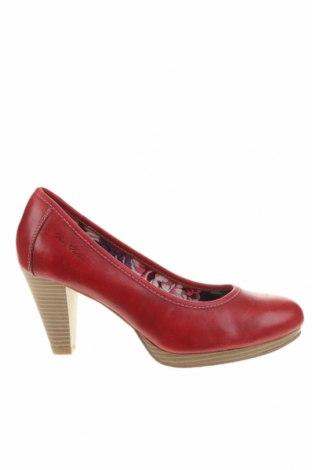 Дамски обувки Tom Tailor, Размер 41, Цвят Червен, Естествена кожа, Цена 89,25лв.