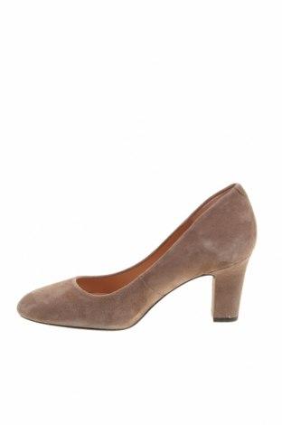 Дамски обувки Unisa, Размер 36, Цвят Бежов, Естествен велур, Цена 81,75лв.