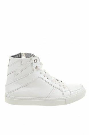Γυναικεία παπούτσια Zadig & Voltaire, Μέγεθος 39, Χρώμα Λευκό, Γνήσιο δέρμα, Τιμή 191,44€