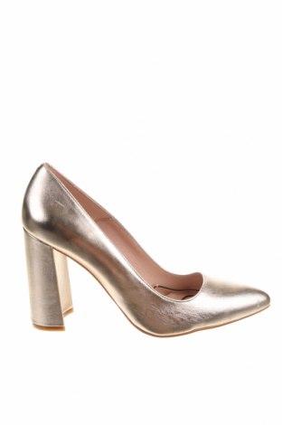 Дамски обувки Zign, Размер 40, Цвят Златист, Естествена кожа, Цена 29,43лв.