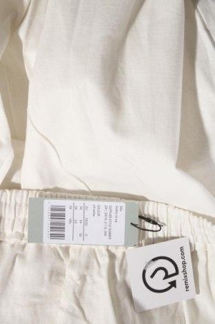 Дамски панталон, Размер 3XL, Цвят Бял, 55% лен, 45% памук, Цена 20,38лв.