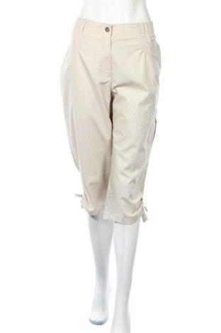 Дамски панталон Alia, Размер L, Цвят Бежов, 59% памук, 39% полиестер, 2% еластан, Цена 6,30лв.