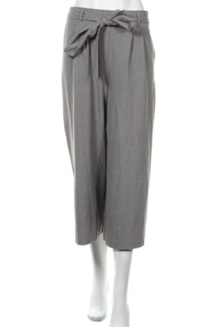 Дамски панталон Amisu, Размер S, Цвят Сив, 63% полиестер, 33% вискоза, 4% еластан, Цена 16,07лв.