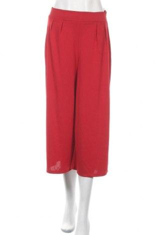 Дамски панталон Bershka, Размер M, Цвят Червен, Полиестер, Цена 11,87лв.